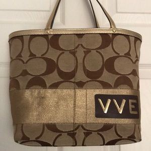 Monogrammed Reversible Coach Tote